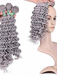 "cheap -supple fashian hair extension weave bundles deep wave natural hair - 0906# silver grey (color : silver grey, size : 16""-18""-20"")"