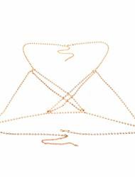 cheap -rhinestone bra chain boho jewelry body shiny crystal summer beach bikini chain party body chain jewellery (type 2)