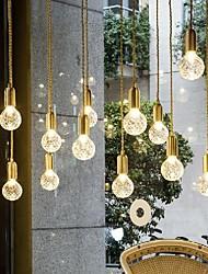 cheap -LED Pendant Light 10 cm Single Design Pendant Light Metal Glass LED Nordic Style 110-120V 220-240V