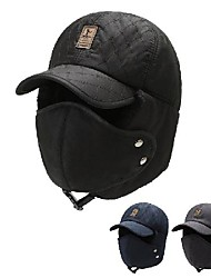 cheap -Hiking Hat Hunting Hat Trapper Hat Outdoor Thermal Warm Windproof Autumn / Fall Winter Hat Camping / Hiking Hunting Blue Gray Black
