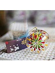 cheap -japanese wind chimes wind bells handmade glass birthday gift spa kitchen home decors (fireworks)