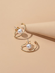 cheap -Women's Stud Earrings Classic Elegant Imitation Pearl Earrings Jewelry Gold For Party Evening Date