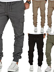 cheap -men's stretch jogger cargo chino jeans pants