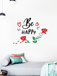 cheap -valentine's day rose language home window background decoration can be removed stickers 57*43cm