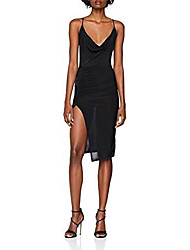 cheap -women's strappy cowl 6114896 party dress, black (black 1), 8 (manufacturer size:8)