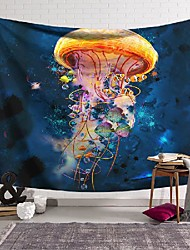 cheap -wall tapestry art decor blanket curtain hanging home bedroom living room decoration marine color jellyfish polyester