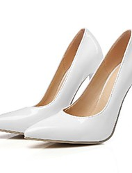 cheap -Women's Heels Stiletto Heel Pointed Toe Daily PU Synthetics Almond White Black