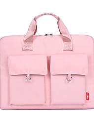cheap -Unisex Nylon Laptop Bag Zipper Solid Color Daily Office & Career White Black Pink