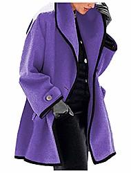 cheap -women's coat, womens winter wool coat trench jacket ladies warm slim long overcoat outwear, clothing for women (purple xl)