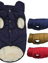 cheap -Dog Coat Vest Puppy Clothes Solid Colored Fashion Sports Outdoor Winter Dog Clothes Puppy Clothes Dog Outfits 202007 khaki 1127 red# Purple Costume for Girl and Boy Dog Cotton S M L XL XXL 3XL