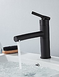 cheap -Bathroom Sink Faucet - Rotatable / Pull out Painted Finishes Mount Outside Single Handle One HoleBath Taps