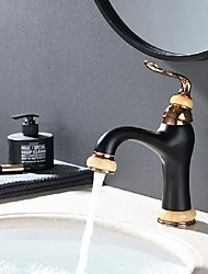 cheap -bathroom sink faucet - antique black basin faucet centerset single handle one hole deck mounted classical hot cold water vessel sink mixer bath vanity taps