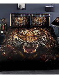 cheap -tiger print 3-piece duvet cover set hotel bedding sets comforter cover with soft lightweight microfiber, include 1 duvet cover, 2 pillowcases for double/queen/king(1 pillowcase for twin/single)
