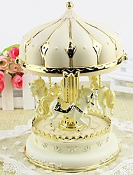 cheap -Music Box Carousel Music Box Classic Horse Carousel Merry Go Round Cute Fun Unique Women's Girls' Kid's Adults Graduation Gifts Toy Gift