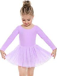 cheap -Kid's Little Girls' Dress Dot Sequin Black long sleeve Black short sleeve Rose red long sleeve Dresses
