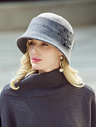 cheap -Headwear Casual / Daily Wool / Acrylic Hats with Beading 1pc Casual / Daily Wear Headpiece