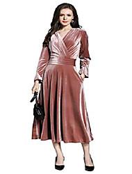 cheap -ladies elegant pleated velvet evening dress ball gown cocktail dress maxi dresses party midi dress