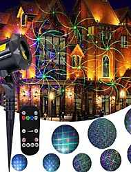 cheap -Outdoor Waterproof Laser Projector Light  8 Patterns in 1 RGB Outdoor Waterproof Garden Laser Lights with RF Remote Control  and Timer Perfect for Lawn Party Garden Decoration