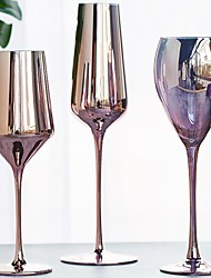 cheap -Rose Gold Wine Glass Cyrstal Goblet Burgundy Wine Juice Drink Champagne Goblet 350ml 400ml Cocktail Party Stemware Bar Luxury Barware 12oz 13.5oz