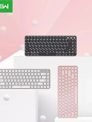 cheap -xiaomi mwxkt01 wireless bluetooth usb wired dual mode office keyboard slim 85 pcs keys