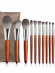 cheap -12pcs professional makeup brush set with bag natural brush big loose powder foundation contour eye cosmetic make up tools makeup brushes (color : 12pcs with bag)