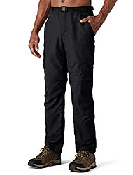 cheap -mens zip-off trekking pants 2-in-1 hiking pants breathable outdoor pants rv pockets uv protection upf 50+ black size m