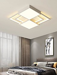 cheap -42/52 cm Dimmable Geometric Shapes Flush Mount Lights Metal Acrylic Painted Finishes LED Modern 110-120V 220-240V