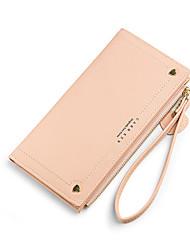 cheap -Women's Bags PU Leather Wallet Zipper Print Plain 2021 Shopping Daily Black Blue Red Yellow