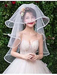 cheap -One-tier Stylish Wedding Veil Elbow Veils with Tier Tulle