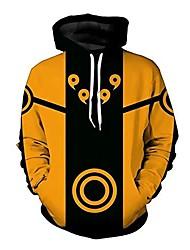 cheap -men naruto 3d print pullover hoodie sweatshirt with kangaroo pocket (color 7, m/us s)