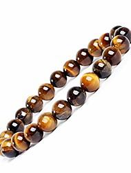 cheap -8mm tiger eye gemstone bracelet round beads stretch bracelet handmade healing stone jewelry for women girls yellow