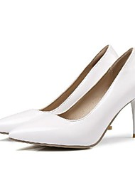 cheap -Women's Heels Stiletto Heel Pointed Toe Daily PU Synthetics Almond White Black