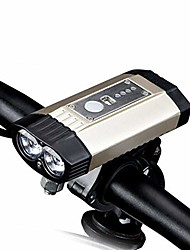 cheap -bike light front waterproof t6065 aviation aluminum, power indicator mountain headlight usb can make your phone power silver