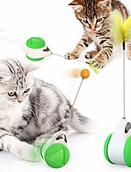 cheap -cat toys, balance chase cat toys, cat interactive roller cat toys, cat clip badminton sports puzzle toys, indoor ball (green)