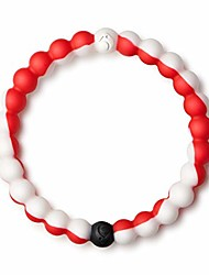 """cheap -wear your world cause bracelet, red/white, 6"""" - small"""