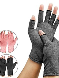 cheap -health care pressure gloves indoor men's and women's sports cycling half-finger non-slip joint rehabilitation nursing hemp grey gloves