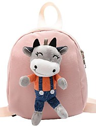 cheap -Boys' Girls' Nylon Mini Backpack Lightweight Zipper Daily Blue Red Yellow Blushing Pink Green