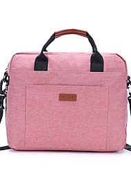 cheap -Unisex Polyester Laptop Bag Zipper Solid Color Daily Office & Career Black Pink Beige Gray