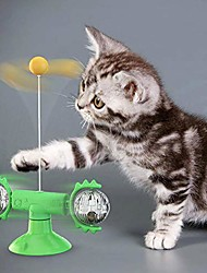 cheap -cat toys, windmill cat toy turntable teasing interactive chew toy with led catnip ball funny kitten toys cats hair brush turntable massage scratching tickle toy with suction cup