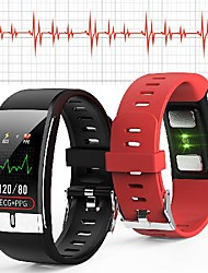 cheap -WAZA E66 Thermometer ECG+PPG Heart Rate Blood Pressure Oxygen Monitor IP68 Waterproof USB Charging Smart Watch