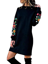 cheap -ladies sweater autumn winter long shirt dresses knitted dress loose dress elegant long sleeve mini dress party dress warm sweatshirt long sport dress package hips fine knitted dress