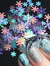 cheap -7 pcs stz nail art 7 christmas models in laser snowflake flake bottles winter nail illusion tend sequins