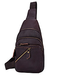cheap -men genuine leather fashion shoulder bag crossbody bag