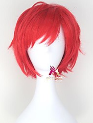 cheap -Synthetic Wig Reinhard van Astrea Re:Zero Starting Life in Another World kara hajimeru isekai seikatsu Curly Side Part Wig Short Red Synthetic Hair 12 inch Men's Cool Comfy Red