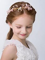 cheap -Bright Cute Crystal / Net / Alloy Headpiece with Crystal / Faux Pearl 1 pc Wedding / Birthday Headpiece