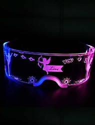cheap -led light technology glasses christmas party bar dance light acrylic goggles