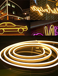 cheap -LED Neon Flex Strip Lights 6mm Narrow Neon Light 12V LED Strip Waterproof 5M Cutable DIY Led Neon Light Strip for Indoor Outdoor Home Decoration and DC12V Adapter and Touch Dimmer Switch Kit
