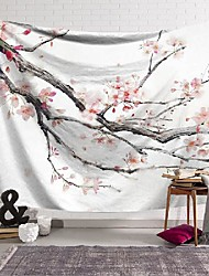 cheap -wall tapestry art decor blanket curtain hanging home bedroom living room decoration flower branch polyester