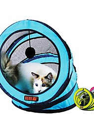 cheap -Collapsible Cat Tunnel Tube Cat 1pc Round Foldable Funny Interactive Textile Gift Pet Toy Pet Play