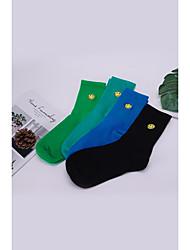cheap -Men's / Women's Medium Socks Comfort Warm Cotton Antibacterial Green One-Size 4 pairs